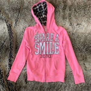Justice Girls Hoodie Size 10